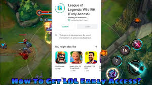 HOW TO GET LEAUGE OF LEGENDS:WILD RIFT MOBILE EARLY ACCESS|LOL MOBILE  DOWNLOAD - YouTube
