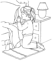 Small Picture Praying to God Coloring Page