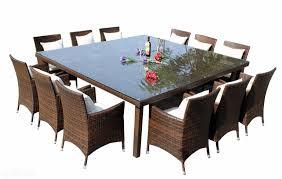 amazing outdoor wicker rattan square dinning table seats 12 people table 12 seat outdoor dining table plan
