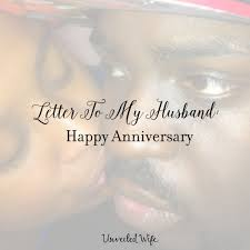 Letter To My Husband Happy Anniversary