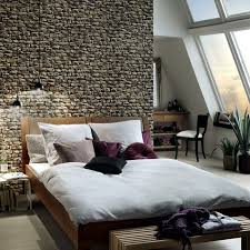 Wall Paper Designs For Bedrooms Wallpaper Ideas Bedroom Walls Fashion Stone  Look