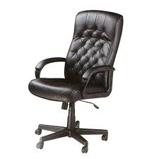 Desk Chairs High Back Black Leather Overstuffed Executive Office