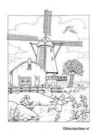 Kleurplaat Molens Molen Holland Netherlands En Farm Resume Simple