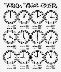 Time Clock Chart Tell Time Clock Hour Chart At Coloring Pages For Kids All