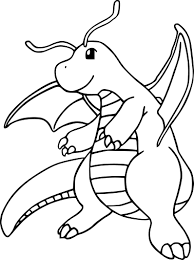Coloriage Dracolosse Pokemon Imprimer
