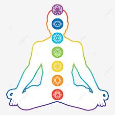 Chakras Méditant L'homme Assis Yoga Méditation Avec Sept Chakras Principaux Colorés Isolé Illustration Vectorielle, Clipart Humain, Vibrant, Chakra De La Couronne PNG et vecteur pour téléchargement gratuit