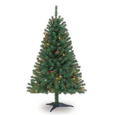 4 Ft PreLit Hillside Pine Artificial Christmas Tree Multicolor 4 Christmas Trees