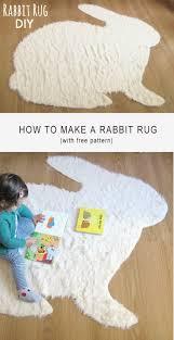 Diy Rug No Sew Rabbit Rug Diy The Sewing Rabbit