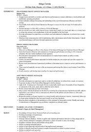 Front Office Manager Resume Sample Front Office Manager Resume Samples Velvet Jobs 1