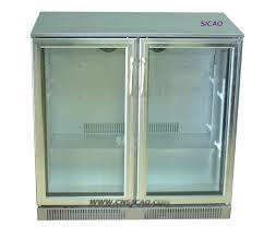 wondrous double glass door budweiser double glass door l bar fridge bar fridge