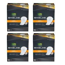 Depends Mens Shields Light Depend Shields For Men Light Absorbency Incontinence Protection 58 Count 4