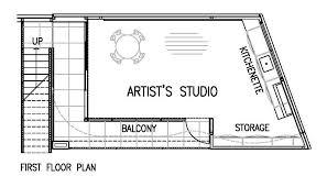Artist's Studio,First Floor Plan