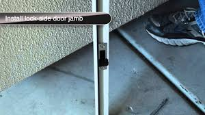 How to install a surface mount single security door - YouTube