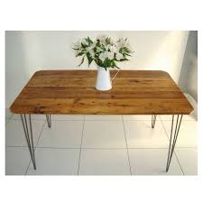 rex dining table with hairpin legs