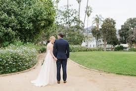 romantic wedding photos at alice keck memorial gardens in santa barbara
