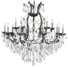 jet black crystal chandelier with clear crystal