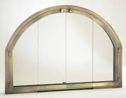 arched glass fireplace doors. Arched Glass Fireplace Doors I
