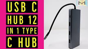 USB C HUB <b>12 in 1</b> Type C Hub Dongle Adapter - YouTube