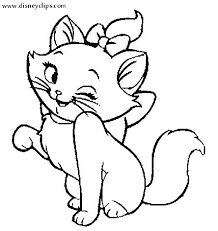 Printable Kitten Coloring Pages Cute Preschool To Tiny Printable