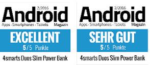 Testsieger 4smarts Duos Slim Powerbank Zusatz Akku 6600mAh ...