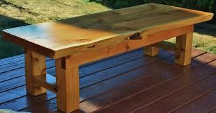 red cedar zen coffee table