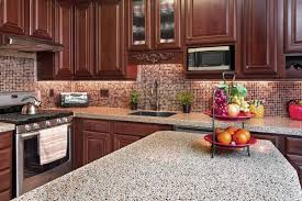 kitchen backsplash cherry cabinets black counter. Cherry Cabinets Kitchen Backsplash Ideas With Granite Counter Top Brown Laminated Storage Cabinet Gray Black