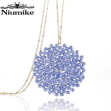 Niumike <b>Women Necklace Pendant Embellished</b> with crystals from ...
