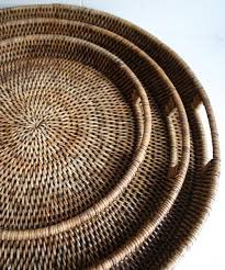 ... Round Woven Serving Trays (3 sizes available) ...