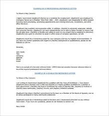 New Character Reference Letter Sample Example Of Character Reference