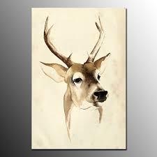 framed art prints on canvas deer painting livin