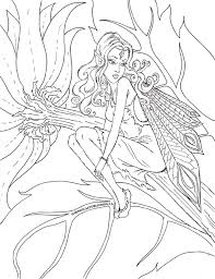 Masja's fairy tales colouring book. Fairy Colouring Page New Free