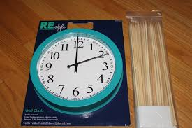 i started with a 4 clock from target and some wooden skewers from ikea i m not sure how much they were because i bought them ages ago but they were