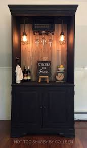 dry bar furniture. Upcycled / Repurposed Armoire Converted Into A Dry Bar Liquor Cabinet - Not Too Shabby By Colleen Furniture