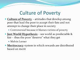 the culture of poverty refers to best culture  understanding the nature of poverty