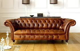 brown leather sofa vintage chesterfield sofas intended for couch ideas 1 dark cushions