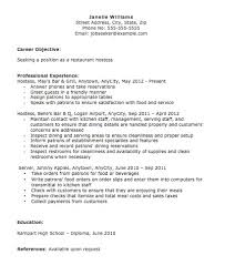Hostess Resume Stunning Hostess Resume Objective Hostess Host Resume Janella Williams Host