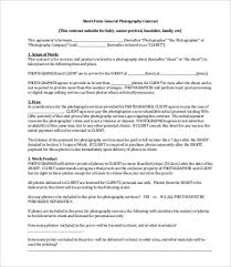 8+ Photography Contract Templates - Free Sample, Example, Format ...