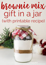brownie mix in a jar with free printable is a fun easy diy gift perfect