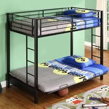black metal twin over fullsize futon bunk bed frame black metal bunk bed f95 black