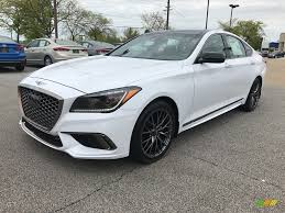 2018 genesis white. simple genesis 2018 genesis g80 sport  casablanca white  gray photo 1 intended genesis white