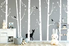 white tree wall decal nursery tree wall stickers nursery ideas forest animal wall stickers tree wall