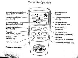 manual for hampton bay remote controlled fan circa 2003