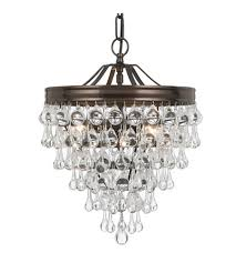 crystorama 130 vz calypso 3 light 12 inch vibrant bronze mini chandelier ceiling light in