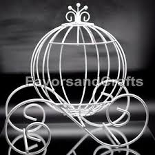 Image is loading Cinderella-Pumpkin-Carriage-Wedding-Wire-Centerpiece -Coach-Carroza-