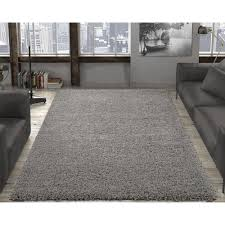 ottomanson contemporary solid gray 7 ft x 9 ft area rug