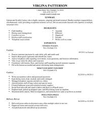 Resume Template For Cashier Job Best of Cashier Job Resume Samples Benialgebraincco