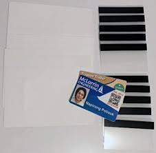 Pvc Card Pouches Sheets Teslin Inkjet 10 1-up Stripes Makes Kit Id 2
