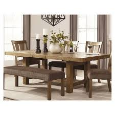 dining room extendable tables. Tamilo Rectangular Dining Room Extendable Table Wood/Gray/Brown - Signature Design By Ashley : Target Tables