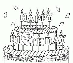 Coloring Pages Birthday Cake With Candle For Preschoolers Bear