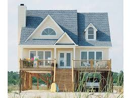 small beach house plans on pilings contemporary